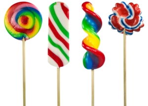Multicolored Lollipops